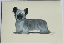 Skye Terrier Dog Zeppa Studios Fur Children Note Cards Set of 8