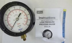 Wika 4217080 Capsule Low Pressure Gauge 4-1/2 Dial 1/4 Male Npt Connection