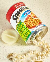 Spaghetti O's Security Discreet Food Can Decoy Safe Protect Your Valuables
