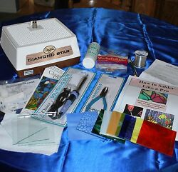 Learn Stained Glass With Simple Beginner Kit Glastar Grinder Tools Instructions
