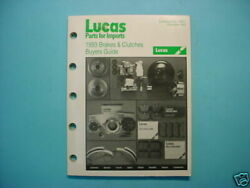 Lucas Brake And Clutch Buyers Guide