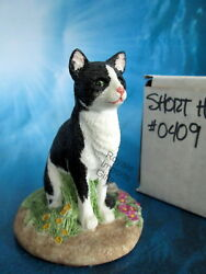 Short Hair Black White Cat Tuxedo NIB Figurine Sherwin 1985 USA Marv-Art Designs