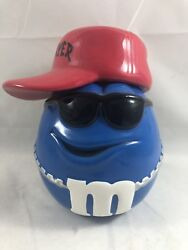 """M And M Ceramic Cookie Candy Jar, Container, Hip Hop, Lid, Hat, Galerie Rare 8"""""""