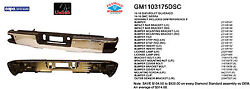 Replacement Step Bumper Assembly For Gmc Chevrolet Rear Gm1103175dsc