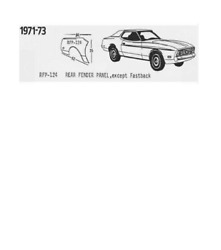 Ford Mustang Quarter Panel Skin Set Left And Right 1971,1972,1973 Schott