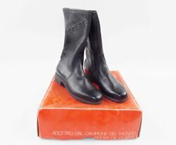 1980and039s Alpinestars Boots Black Leather 764 Skywalk Size 41-eu 7.5-us Motorcycle
