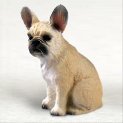 French Bulldog Cream Fawn Dog Tiny One Miniature Small Hand Painted Figurine