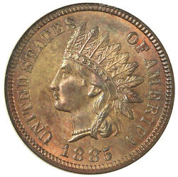1885 1c Ms65rb Ngc-indian Head Cent