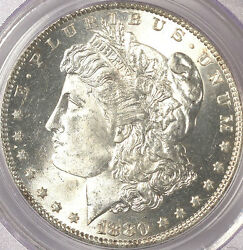 1880-O $1 MS64 PCGS-ONLY 170 in higher-RARE-BID IN 65=25K.Micro O is repunched