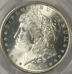 1890-s 1 Ms65 Pcgs-only 238 In Higher Grade-blast White And Pq- Morgan Dollar