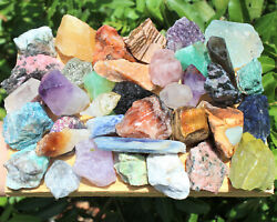 1 2 lb Lot Bulk Crafters Gems Crystals Natural Rough Crafters Gemstones 8 oz $11.95