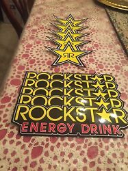 10 Mix Authentic Rockstar Energy Drink Stickers Decal Sign Logo Bmx Motocross