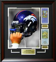 Denver Broncos Super Bowl Xxxii And Xxxiii Champions Framed Collage Picture