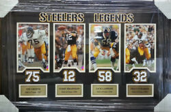 Steelers Legends J. Greene And T. Bradshaw And J. Lambert And F. Harris Framed Picture