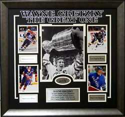 Wayne Gretzky 4 Times Stanley Cup 9 Times Most Valuable Player Framed Picture