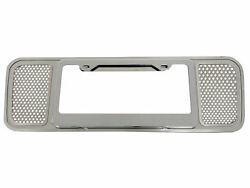 2005-2013 Corvette Perforated Rear License Plate Frame Stainless Steel