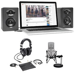 Samson G-Track Studio Podcast USB Microphone+Interface+Z45 Headphones+Monitors
