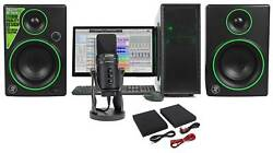 SAMSON G-Track Pro Studio USB Condenser Microphone+Interface+(2) Mackie Monitors