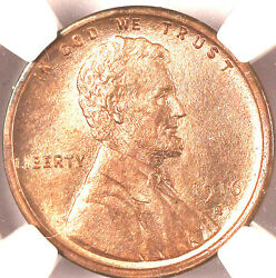 1916-s 1c Ms64rb Ngc-95 Red- Lincoln Cent