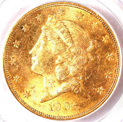 1906-s 20 Ms62 Pcgs/pq-only 1493 Finer-liberty Head