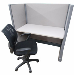 Row Of 5 Refurbished 48 X 53 H Herman Miller Cubicles | Fabric And Paint Choice