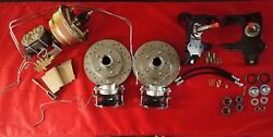 1958 1964 Chevrolet Front Disc Brake Conversion 2 Drop Drilled Slotted 7 Dual