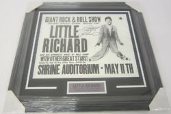 Little Richard Rock And Roll Signed Framed Matted Concert Poster 16x20 Coa Loa
