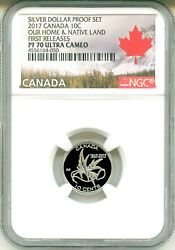 2017 Canada S10c Silver Dollar Proof Set Wings Of Peace Fr Ngc Pf70 Ultra Cameo