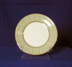 Wedgwood Kenilworth Bread And Butter Plate White Floral Scrolls England Bfe2392