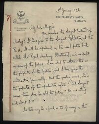 1926 George Bernard Shaw Letter To Magdalen Ponsonby Re Sargent Portrait And R.a.