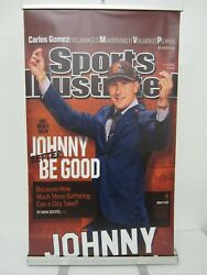 Johnny Manziel Sports Illustrated Draft 6 Foot Banner W/frame And Storage Bag