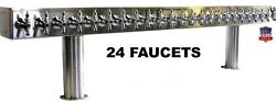 Stainless Steel Draft Beer Tower Made In Usa- 24 Faucets - Air Cooled Ptb-24ss