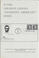 1303-c1 Fd Program 4c Abraham Lincoln Coil Stamp W/fdc And Picture