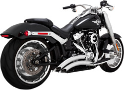 Vance And Hines Chrome Big Radius Exhaust System For 18-19 Harley Fat Boy Breakout