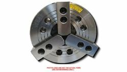 3-jaw 6 Power Chuck Wedge Type Thru-hole With A2-4 Adapter Plate K-206a04-n-b