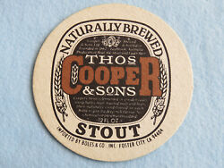 Beer Coaster Thomas Cooper And Sons Brewery And Homebrewing Supplier Australia