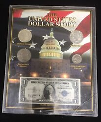 The United States Dollar History 4 1 Coins And 1 Note -limited Edition Origina