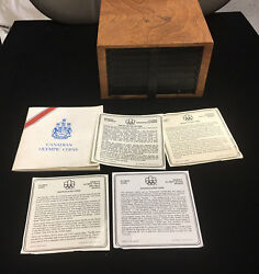 The Box Of 1976 Canada Olympic 14 Pcs 5 And 14 Pcs And10 Silver Coins-limited Edit