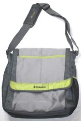 Columbia Messenger Diaper Bag Gray amp; Green 16quot; x 15quot; x 4quot; $17.95