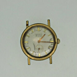 Vintage Benrus 21 Jewels Series 2155 Gold Plated With Stainless Steel Back Watch