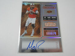 Mason Rudolph Rc 2018 Panini Contenders Autograph Bowl Ticket 21/25 Steelers