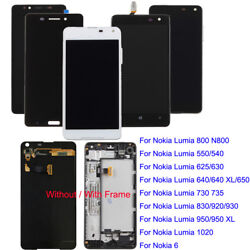 Lot Nokia 520 630 640 800 920 1020 / Xl Lcd Display Touch Screen Digitizer Frame