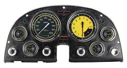 1963 - 1967 Chevy Corvette Direct Fit Gauge Auto Cross Yellow Co63axy