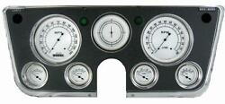 1967-1972 Chevrolet Chevy Truck Direct Fit Gauge Classic White Ct67cw