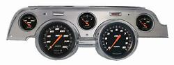 1967-1968 Ford Mustang Direct Fit Gauge Velocity Black Mu67vsbba