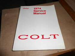 1974 Dodge Colt Factory Service Manual 25 Chapters