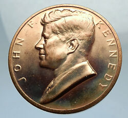 United States Us President John F. Kennedy Medal W Speech Quote And Seal I67553