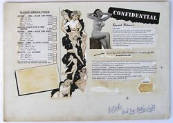 Ad Layout For Girlie Magazine Including Order Form For Slides And Movies 1950's