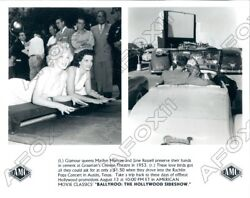 Actress Marilyn Monroe And Jane Russel At Gruman Chinese Theater Press Photo