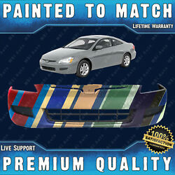 New Painted To Match Front Bumper Cover Fascia For 2003-2005 Honda Accord 2-door
